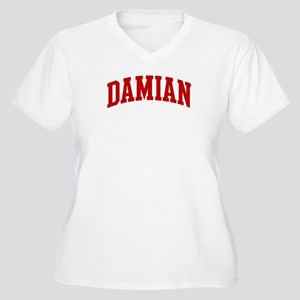 DAMIAN (red) Women's Plus Size V-Neck T-Shirt