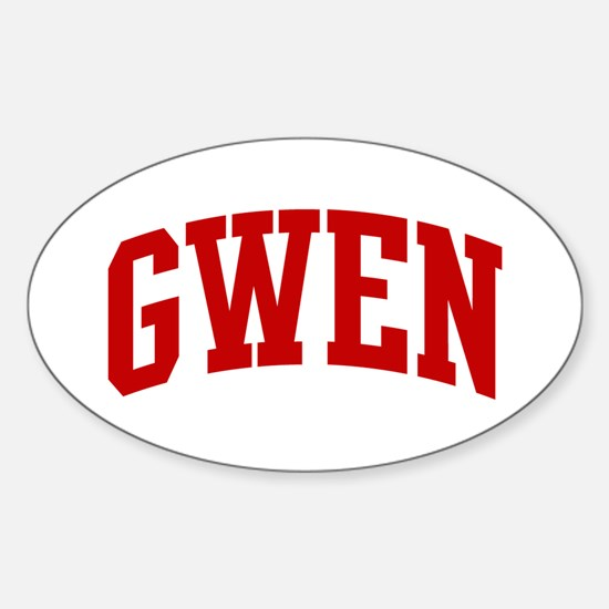 GWEN (red) Oval Decal