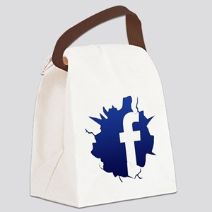 fbcrack Canvas Lunch Bag