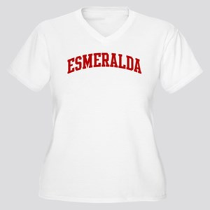 ESMERALDA (red) Women's Plus Size V-Neck T-Shirt