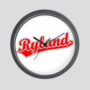 Retro Ryland (Red) Wall Clock