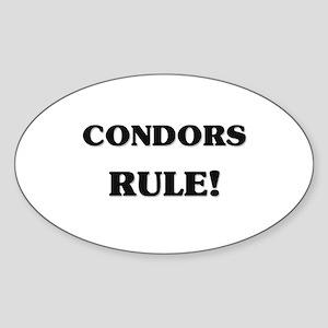 Condors Rule Oval Sticker
