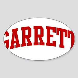 GARRETT (red) Oval Sticker