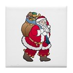 Christmas Art Santa Claus Tile Coaster