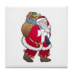 Christmas Art Santa Claus Tile Coaster