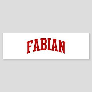 FABIAN (red) Bumper Sticker