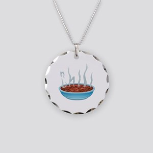 Chili Necklace Circle Charm