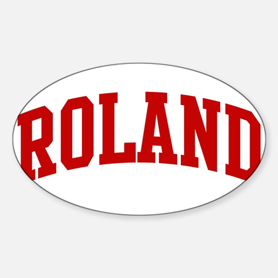 ROLAND (red) Oval Decal