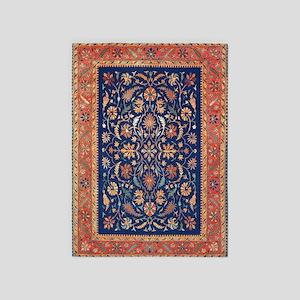 Antique Floral Persian Carpet 5'x7'area Ru