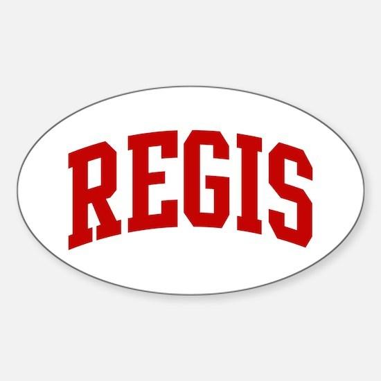 REGIS (red) Oval Bumper Stickers