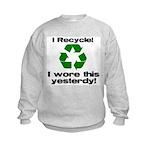 I Recycle Kids Sweatshirt