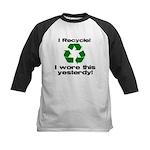 I Recycle Kids Baseball Jersey