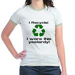 I Recycle Jr. Ringer T-Shirt