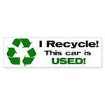I Recycle Bumper Sticker (10 pk)