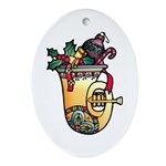 Christmas Art Holiday Decorations Oval Ornament