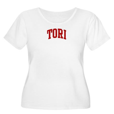 TORI (red) Women's Plus Size Scoop Neck T-Shirt