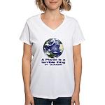 Planet Women's V-Neck T-Shirt