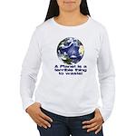 Planet Women's Long Sleeve T-Shirt