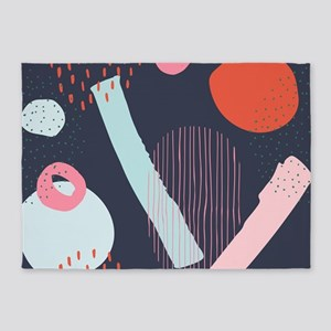 Cute doodling abstract artsy compos 5'x7'Area Rug