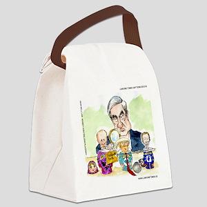 Trump Putin Stacking Dolls Canvas Lunch Bag