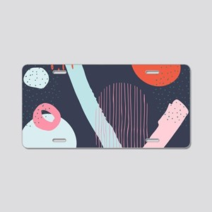 Cute doodling abstract arts Aluminum License Plate