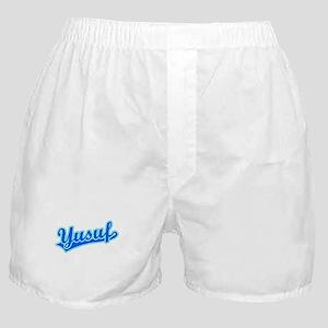 Retro Yusuf (Blue) Boxer Shorts