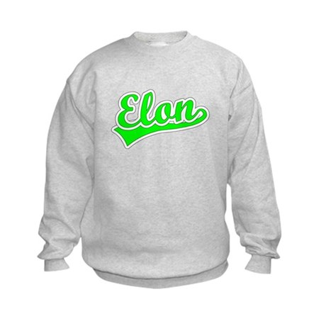 Retro Elon (Green) Kids Sweatshirt