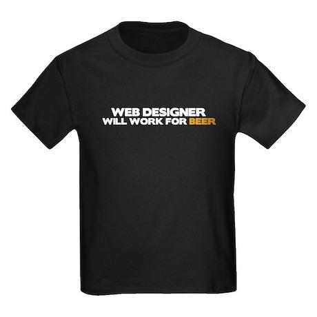 Web Designer Kids Dark T-Shirt