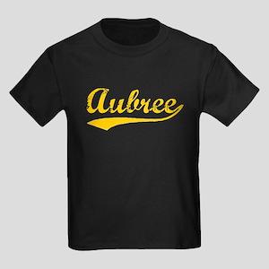 Vintage Aubree (Orange) Kids Dark T-Shirt