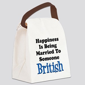 Happiness Married To Someone British Canvas Lunch