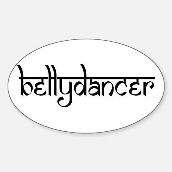 bellydancer Oval Decal