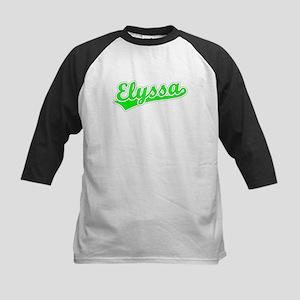 Retro Elyssa (Green) Kids Baseball Jersey