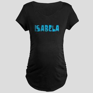 Isabela Faded (Blue) Maternity Dark T-Shirt