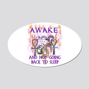 Awoke Women 20x12 Oval Wall Decal