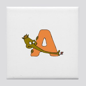 A is for Anteater Tile Coaster