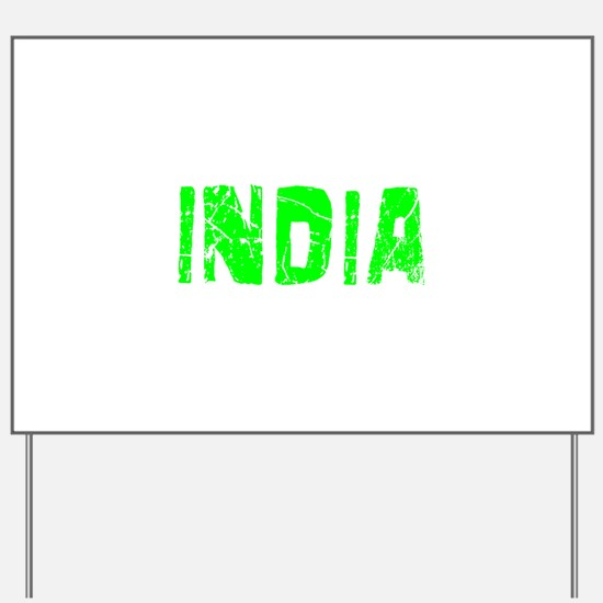 India Faded (Green) Yard Sign