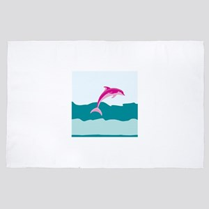 Pink dolphin 4' x 6' Rug
