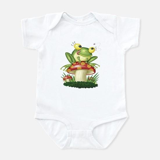 Frog & Toad stool (Front only) Infant Bodysuit