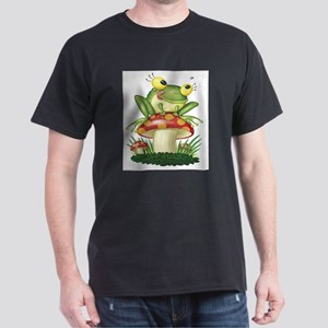 Frog & Toad stool (Front only) Dark T-Shirt