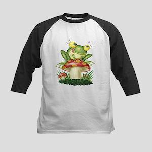 Frog & Toad stool (Front & back) Kids Baseball Jer