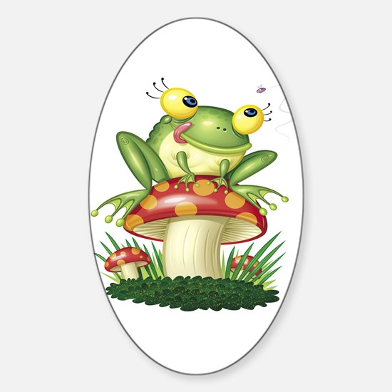 Frog & Toad stool Oval Decal