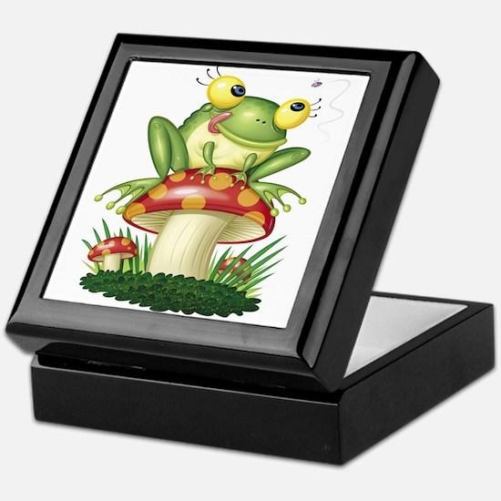 Frog & Toad stool Keepsake Box
