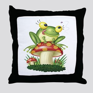 Frog & Toad Stool Throw Pillow
