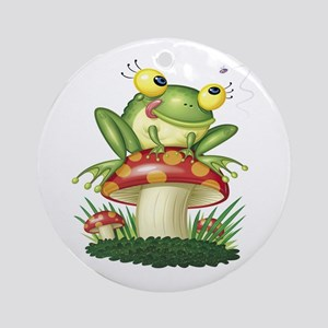 Frog & Toad stool Ornament (Round)