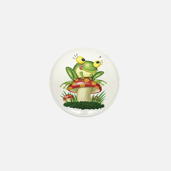 Frog & Toad stool Mini Button