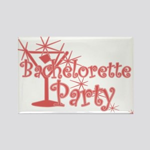 Red C Martini Bachelorette Party Rectangle Magnet