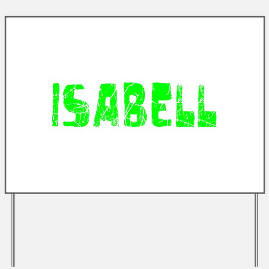 Isabell Faded (Green) Yard Sign
