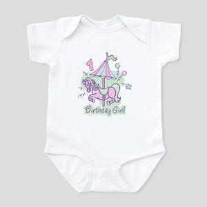 Carousel Birthday First Infant Bodysuit