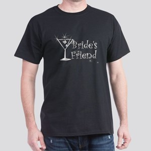Wht C Martini Bride's Friend Dark T-Shirt