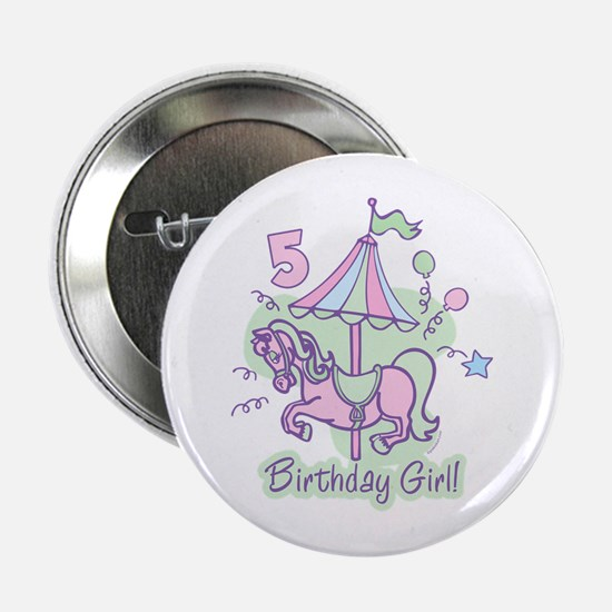"Carousel Birthday Fifth 2.25"" Button"
